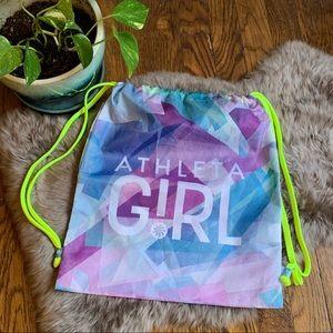 Athleta Girl Neon Drawcord Cinch Athletic Bag